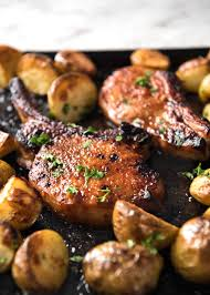 oven baked pork chops with potatoes recipetin eats