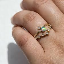 white opal lexus opal u0026 diamond crossover ring catbird