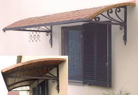 tettoia ferro battuto copriporta o coprifinestra in ferro battuto pacioccona rame cm