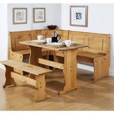 Furniture Durable Solid Wood Dining Room Set For Best Kitchen Durable Brown Oak Dining Bench With Back Under Framed Wall