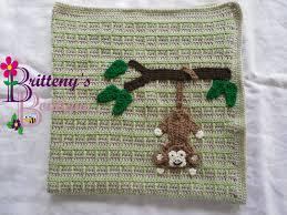 Monkey Hook Britteny Off The Hook Swinging Monkey Baby Blanket Crochet