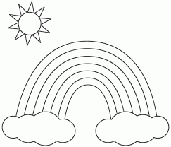 preschool free printable coloring pages of rainbows coloring home