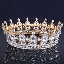 wedding crowns luxury vintage gold wedding crown alloy bridal tiara baroque