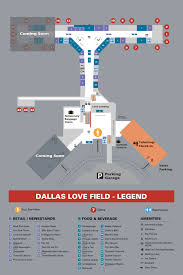 Dallas Terminal Map by Dal Dfw Dallas Fort Worth Metroplex Airports Page 7