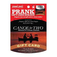 dinner and a gift card canoe for two prank gift card holder 4 99 funslurp