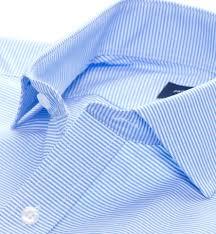 carmine light blue horizontal stripe dress shirt by proper cloth