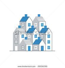 real estate report cover invitation template stock vector
