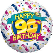 free balloon delivery 90th birthday celebration balloon delivered inflated in a box with