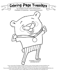 dulemba coloring tuesday olympic bear