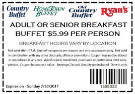 Hometown Buffet Jobs by Hometown Buffet Coupon 5 99 U0026 Senior Breakfast Buffet Per