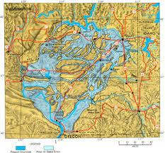Spokane Map Usgs The Channeled Scablands Of Eastern Washington The Spokane