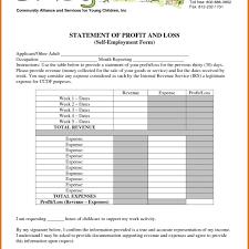 6 profit loss statement template itinerary template sample