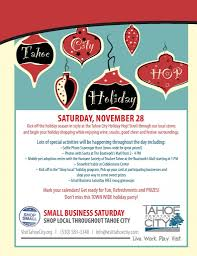the tahoe city holiday hop small business saturday u2013 tahoe city