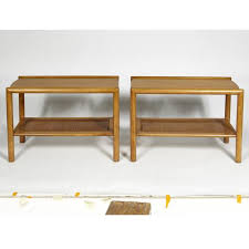 conant ball coffee table 1950s leslie for conant ball pair of caned side tables