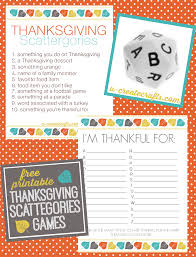 thanksgiving scattergories printables u create thanksgiving