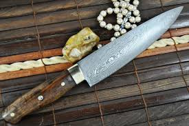 custom made kitchen knives custom made chef s knife damascus steel ideal for bushcraft