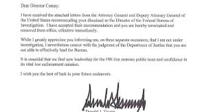 full text of trump u0027s letter telling comey he u0027s fired