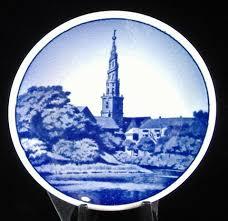 royal copenhagen small plate frelsers kirke butter pat teabag
