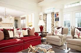 living room red couch red couch living room of dark brown sofa home interior