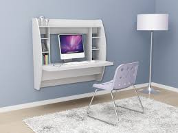Coolest Office Furniture by Pill Wall Mounted Desk In White Throughout White Wall Mounted Desk