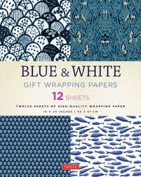 asian wrapping paper blue white gift wrapping papers book by tuttle publishing