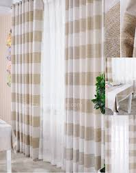 Brown Patterned Curtains Light Brown And White Curtains Horizontal Striped Curtains