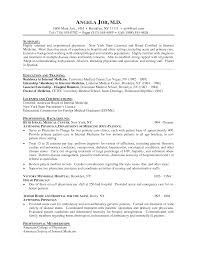 Sample Medical Resume by Sample Curriculum Vitae For Medical Students Applying For Residency