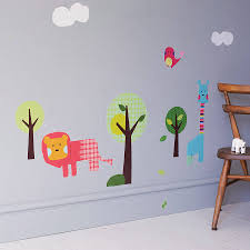 safari animal wall stickers by spin collective safari animal wall stickers