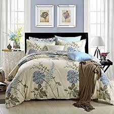 Duvet Cover Sizes Amazon Com 100 Cotton 3pcs Duvet Cover And Shams Bedding Set