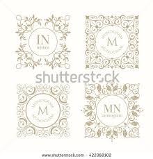 create monogram initials monogram initials stock images royalty free images vectors