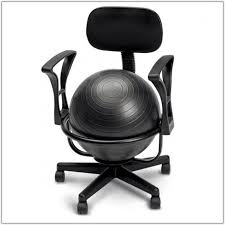 Balance Ball Chair With Arms Exercise Ball Ergonomic Chair Chair Home Furniture Ideas