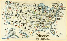 america map carolina sue hillis designs american the beautiful cross stitch pattern