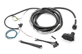 mopar 82212196ab 7 way round hitch wiring harness with 4 wire