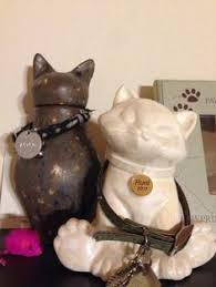 cat urns cat urns with collars and pet id s how to display family pet