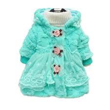 toddler kids baby girl faux fur coat outwear warm fleece winter