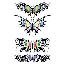 tribal butterfly temporary goimprints