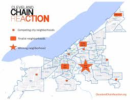 Map Cleveland Ohio by Cleveland Chain Reaction Slavic Village Is The Winning Host