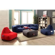living room frameless cozy bean bag style sofa set free shipping