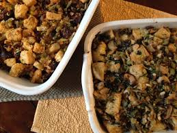 williams sonoma recipes thanksgiving focaccia stuffing with leeks and wild mushrooms from jessica u0027s