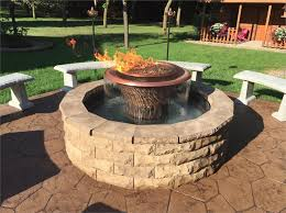 Fire Pit With Water Feature - olympia round fire pit and water feature