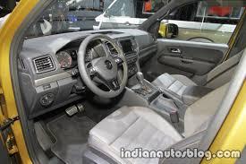 volkswagen amarok interior vw amarok aventura exclusive interior at iaa 2017 indian autos blog