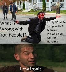 Glenn Walking Dead Meme - how ironic walking dead season 5 meme
