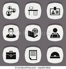icon bureau set of 9 editable bureau icons includes symbols such as