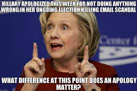 Hilary Meme - hillary apology meme words matter blog