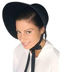 100 black cotton prairie pilgrim amish bonnet large