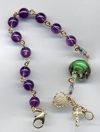 bracelet rosary amethyst rosary bracelet in 14k gold heirloom rosaries
