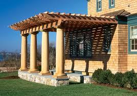 Images Of Pergolas Design by Garden U0026 Outdoor Pergola Plans Designs With Cream Pole And