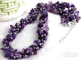round bead necklace images 2018 factory wholesale price newest amethyst chips magnetic jpg