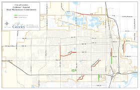 Greeley Colorado Map by Collector U0026 Arterial Road Maintenance Keep Greeley Moving