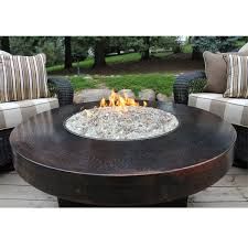 round propane fire pit table hammered copper 42 round oriflamme fire table gas fire pit table